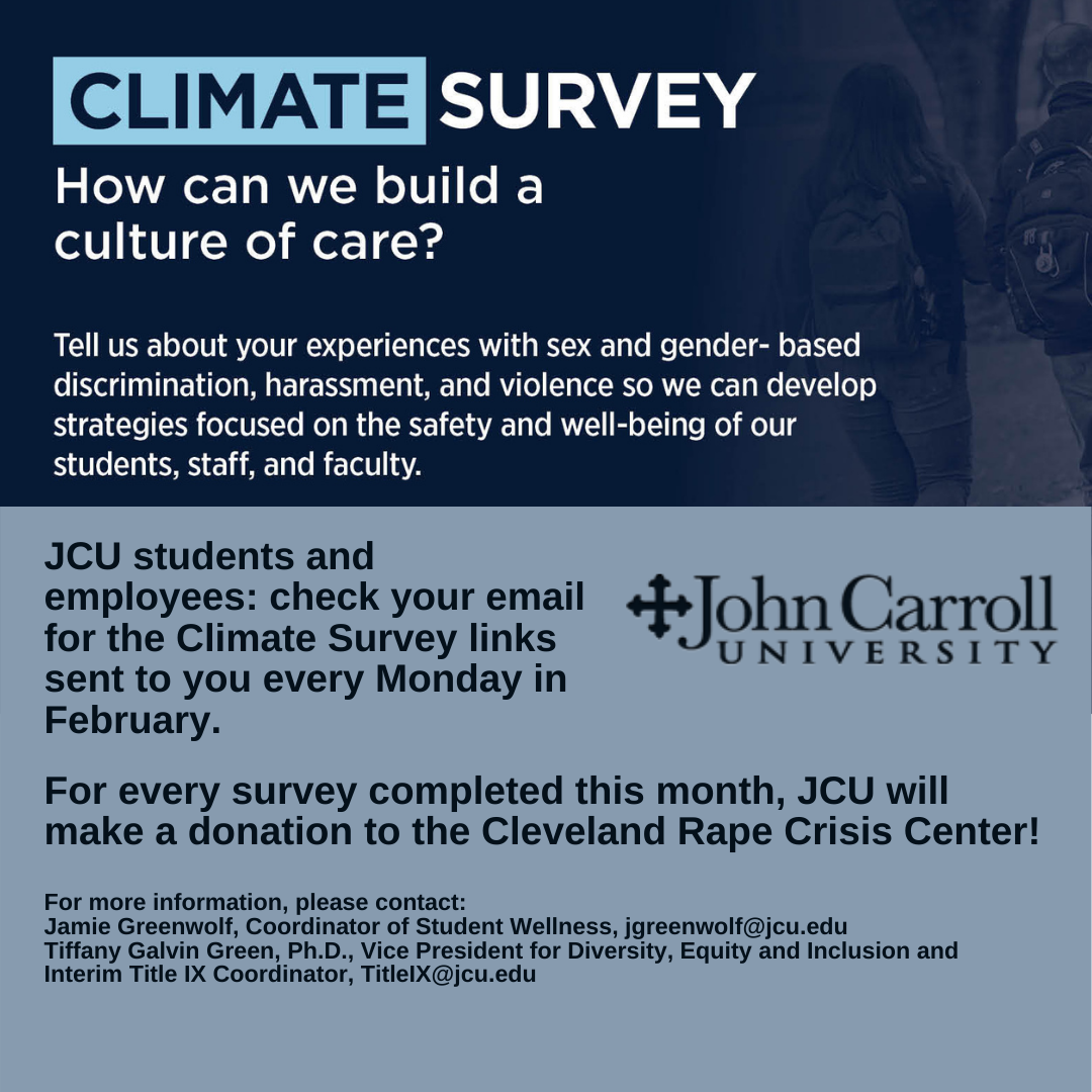 Promo image about the Campus Climate survey