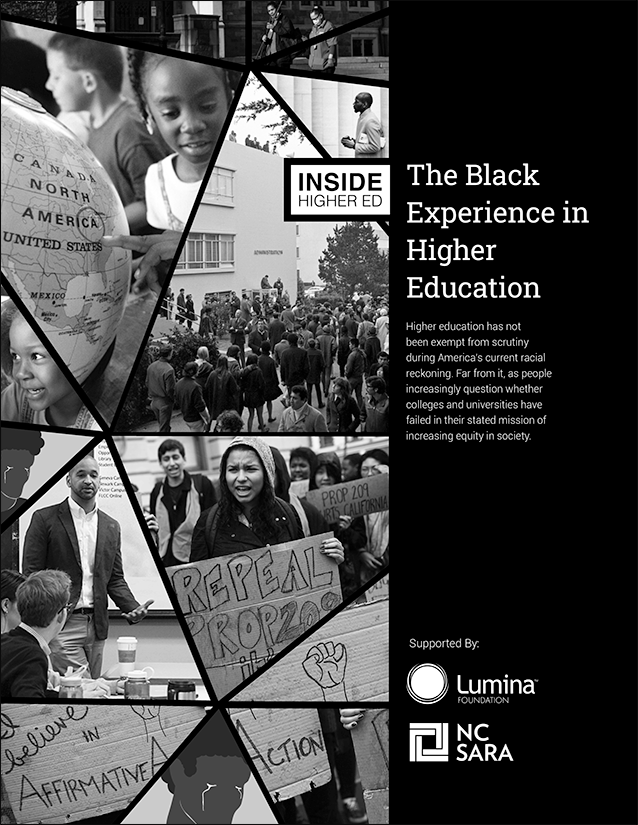 Cover image of Inside Higher Ed's publication The Black Experience in Higher Education