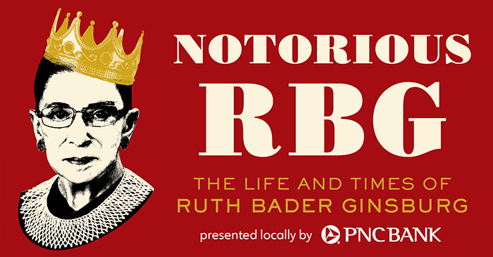 Promotional image for the Notorious RBG exhibit at the Maltz Museum