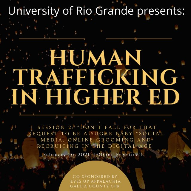 Promotional image for Human Trafficking in Higher Ed series