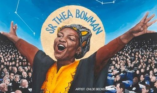 Icon of Sr Thea Bowman painted by Chloe Becker