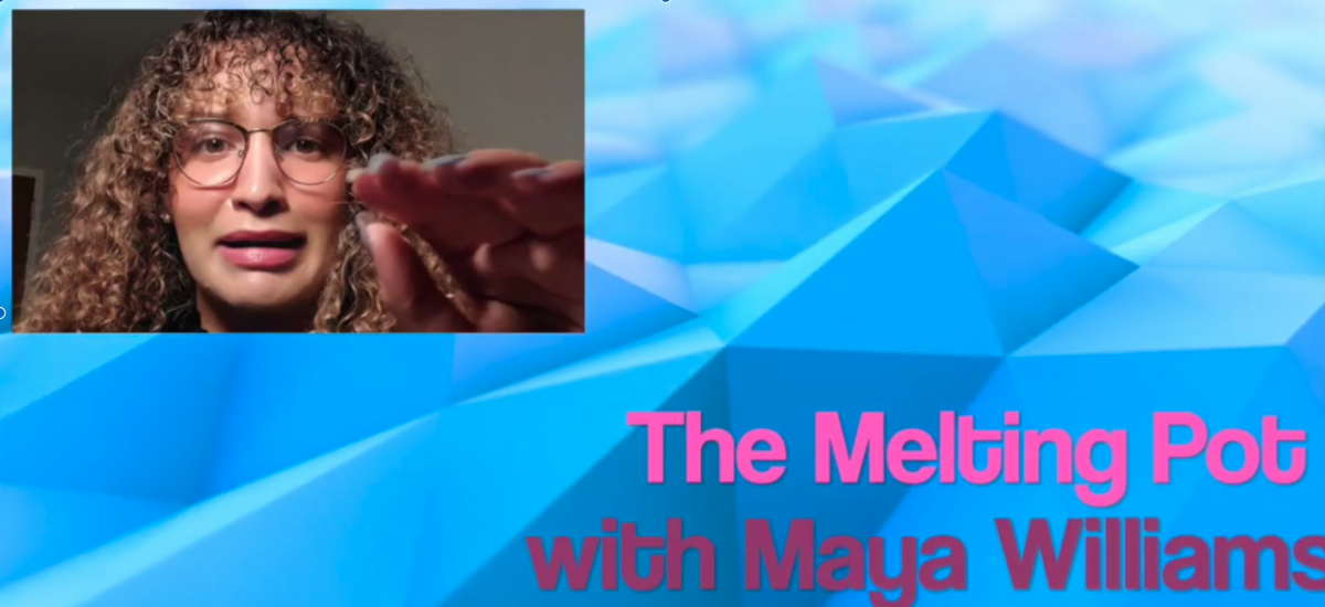 promo image for the Melting Pot podcast with Maya Williams