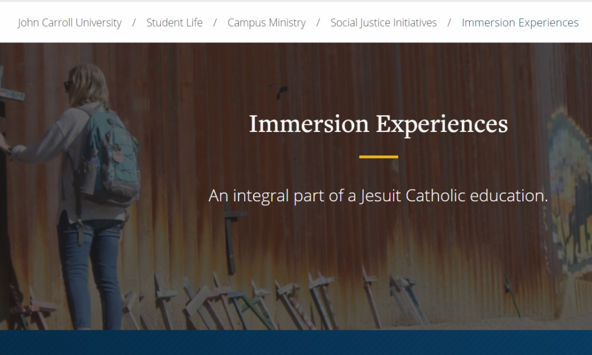 image reads Immersion Experiences - An integral part of a Jesuit Catholic education