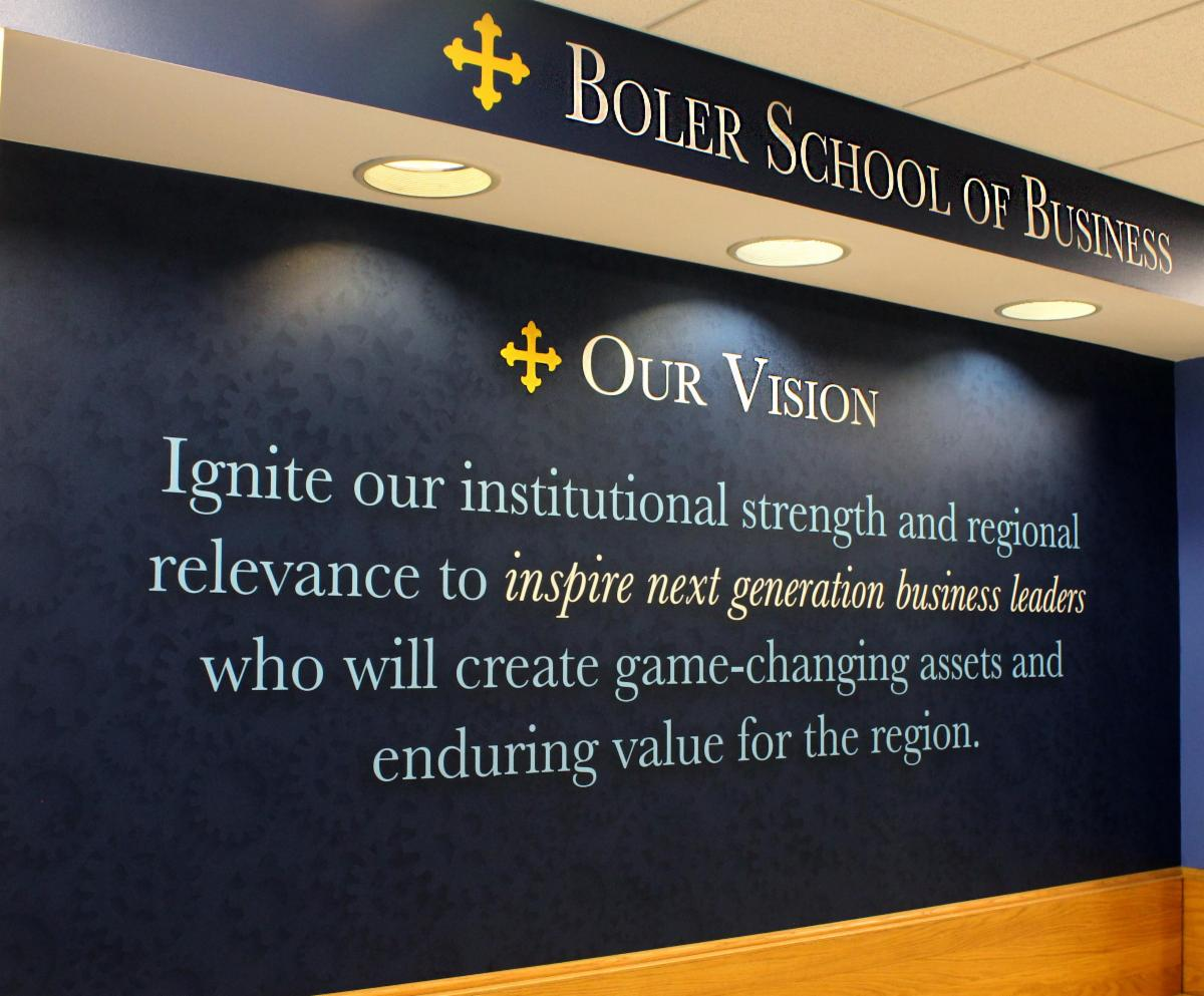 Image of wall mural in the Boler School of Business