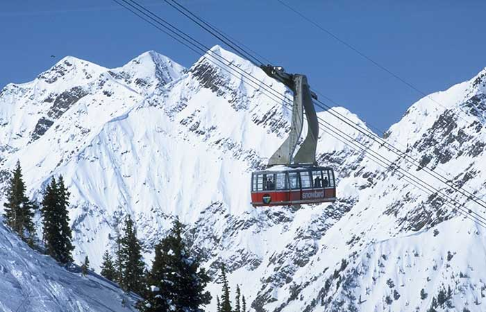 Snowbird skiers