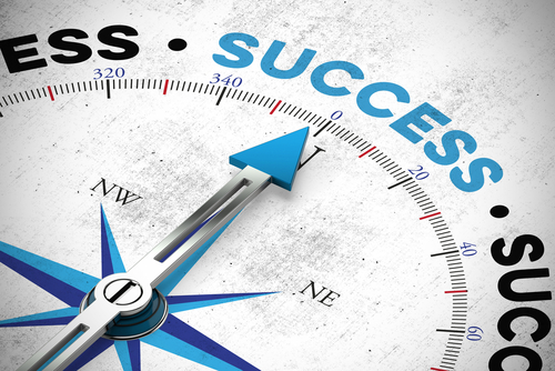 Business success concept with target as motivation 3D Rendering