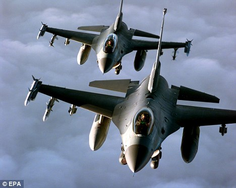 two F-16s