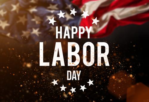 Happy Labor day banner_ american patriotic background