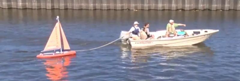 Lake Okeechobee algae research boat