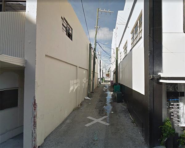 Downtown WPB alley