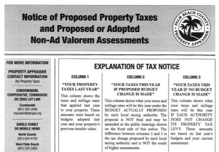 proposed property taxes