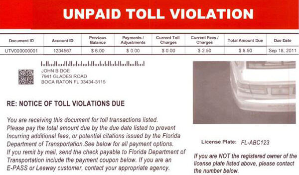 toll scam