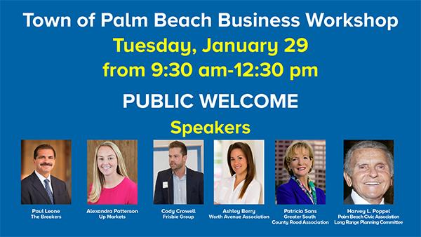 Town of Palm Beach Business Workshop