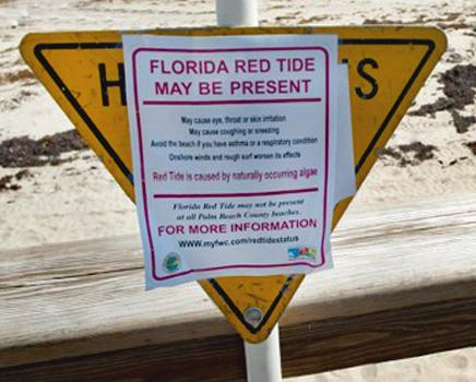red tide sign