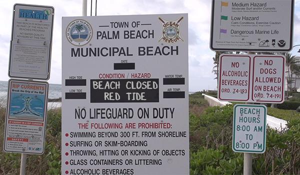 Beach closed Red Tide