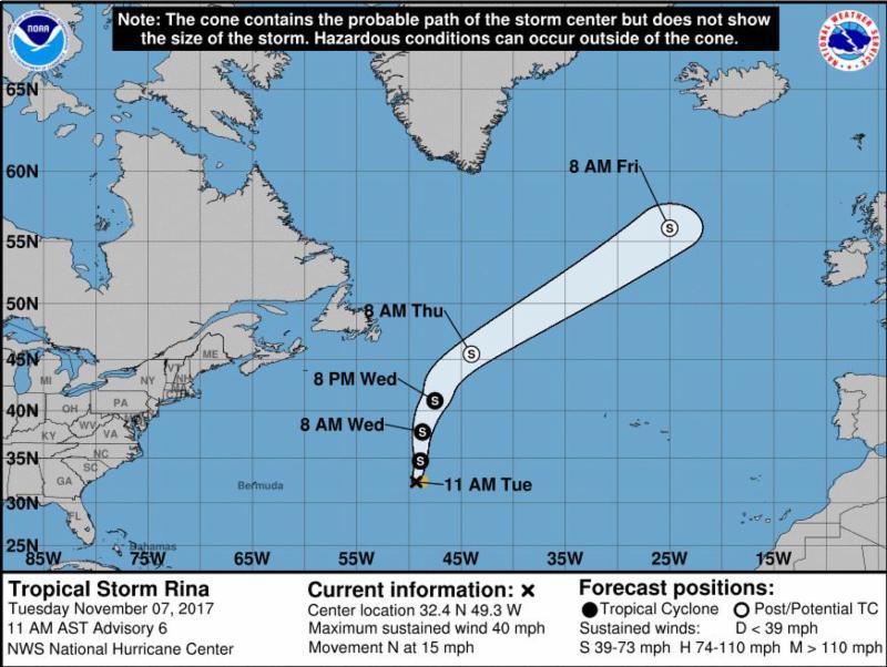 Tropical Storm Rina