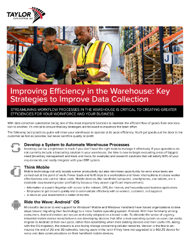 TDS Warehousing Solutions Brief Image