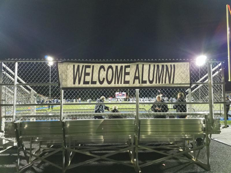 Alumni End Zone at homecoming game