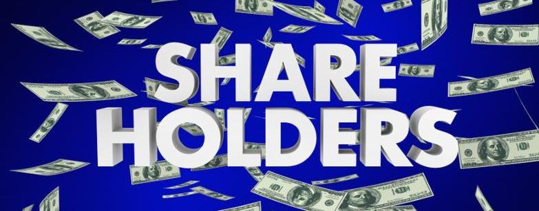 Shareholders Stock Owners Investors Words Money 3d Render Illustration