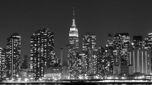 Midtown Manhattan skyline at Night Lights_ New York City