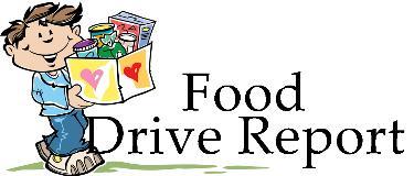 Food Drive Report