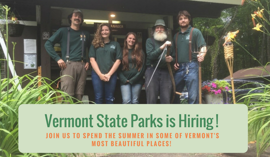 Vermont State Parks is hiring!