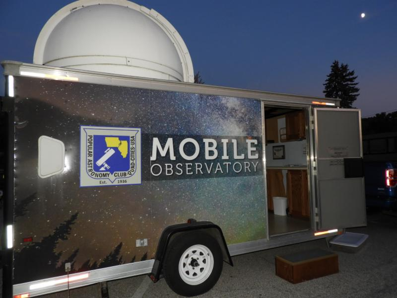 popular astronomy club mobile observatory unit