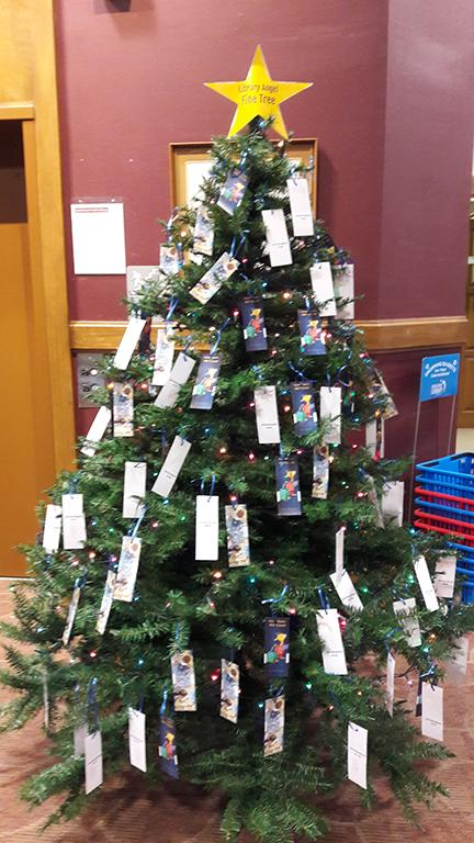 Library angel fine tree
