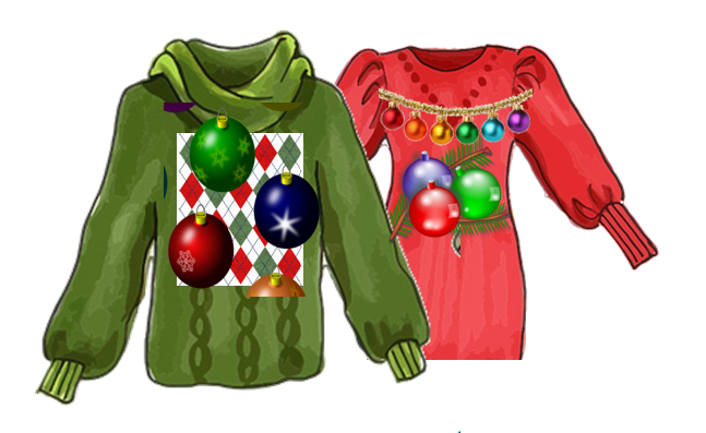 Mash up of Ugly Christmas Sweaters