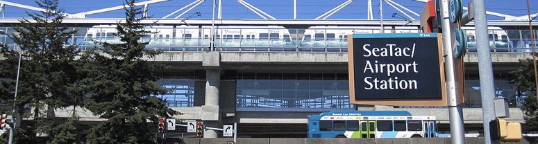 A photo of an airport terminal