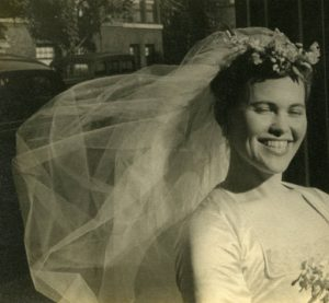 Photograph of Ray Eames wedding