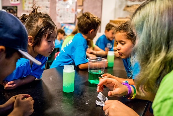 Photograph of summer campers at Cranbrook Institute of Science.