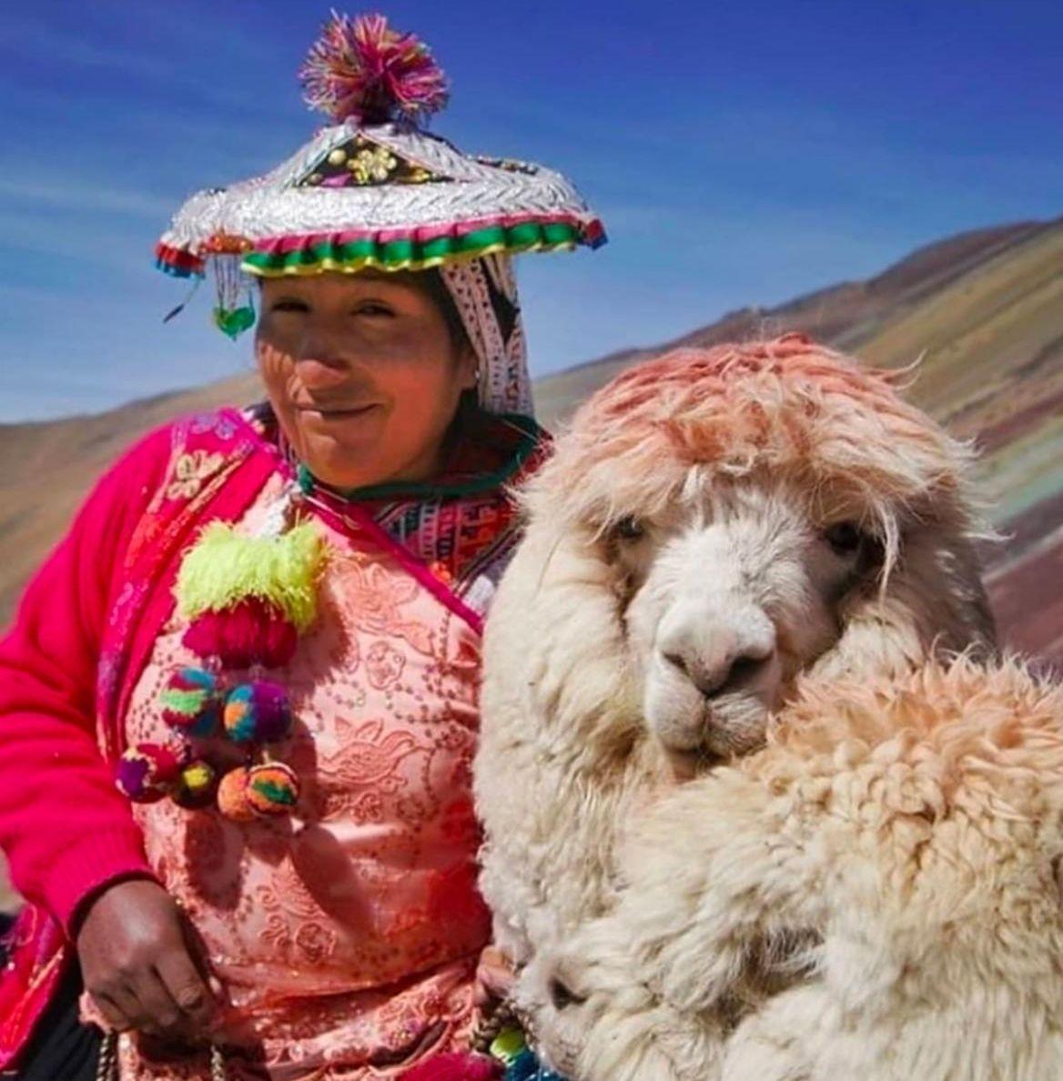 Alpaca and Woman