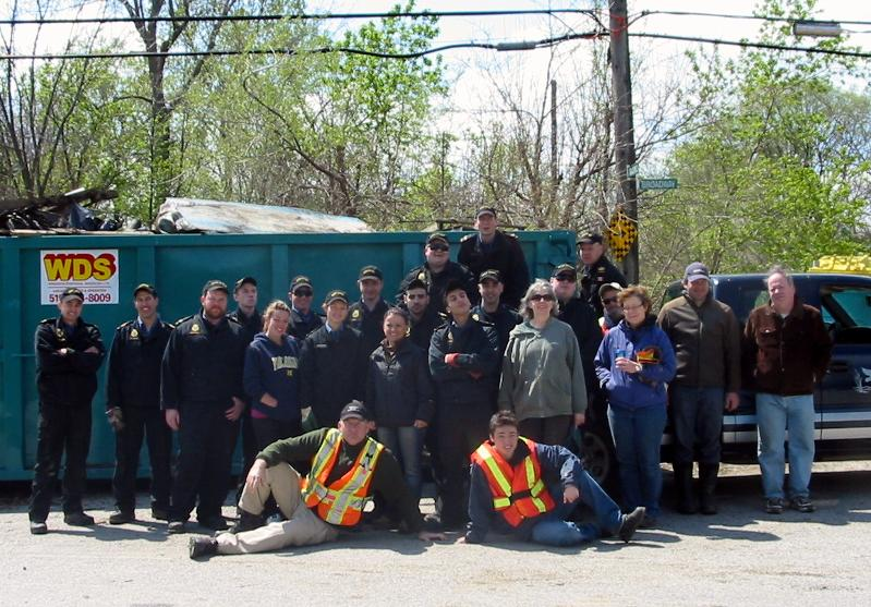 Black Oak Cleanup Volunteers 2012