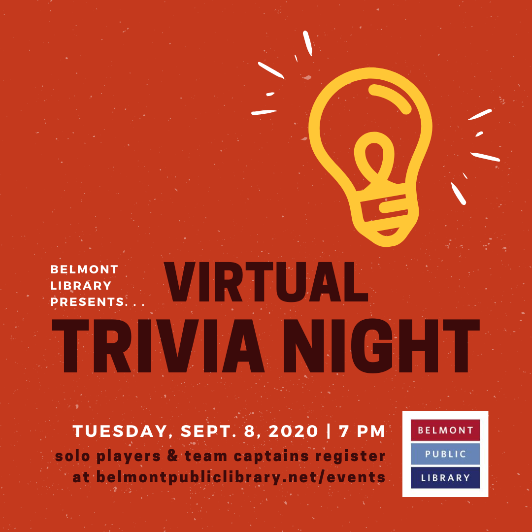 Virtual Trivia Night Tuesday September 8, 2020 7 pm