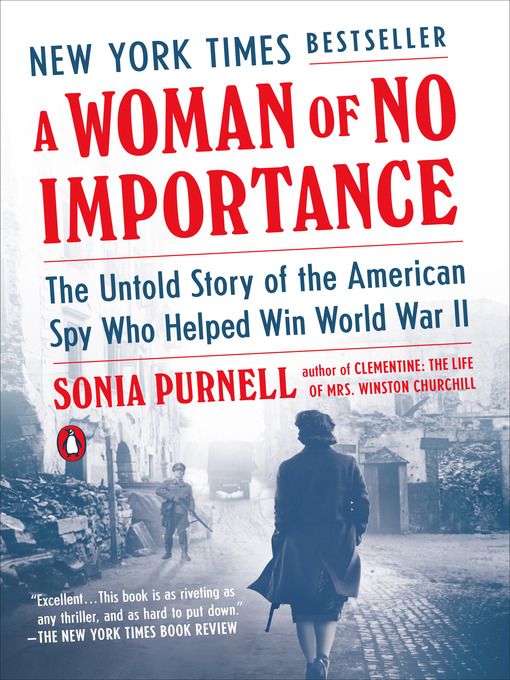 A Woman of No Importance by Sonia Purnell book cover