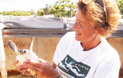 Liz Cunningham with Turtle
