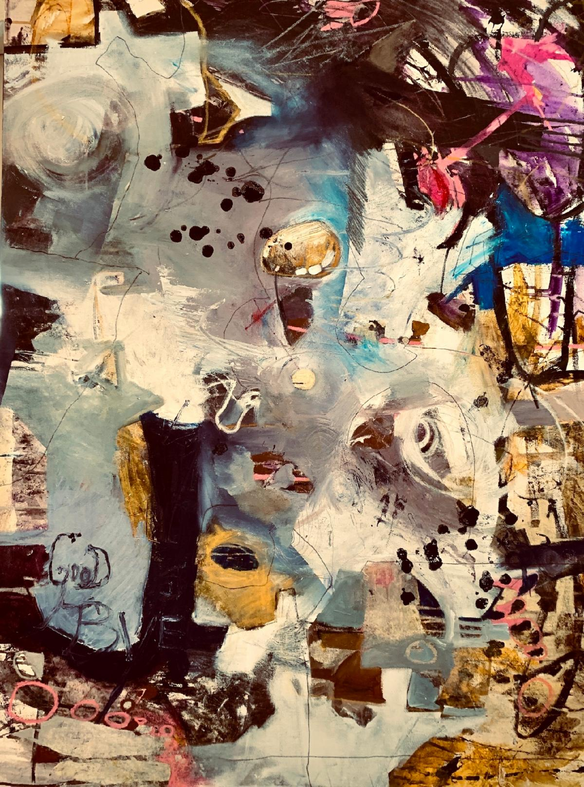Goodbye, acrylic painting by Eileen Olson