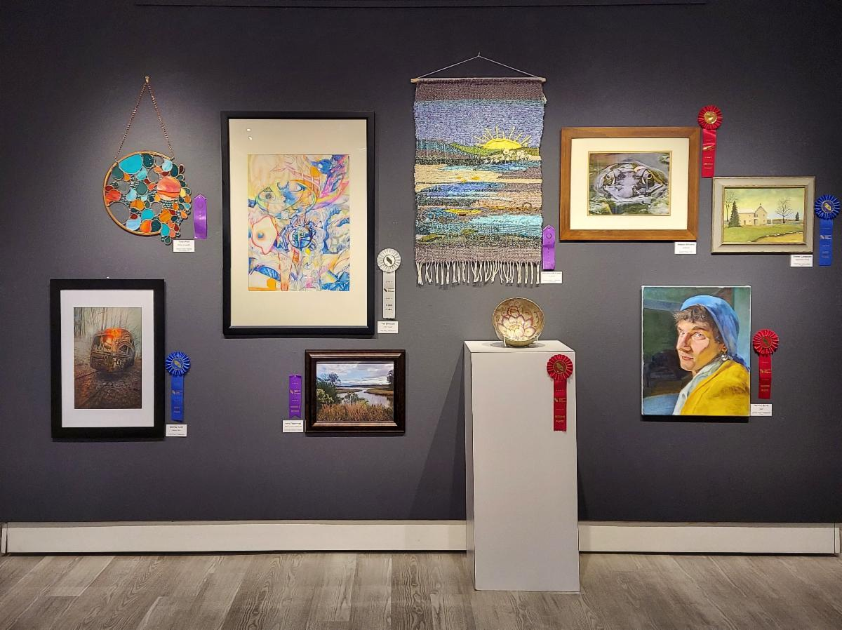 Winners Wall at Art Center Gallery, DSU