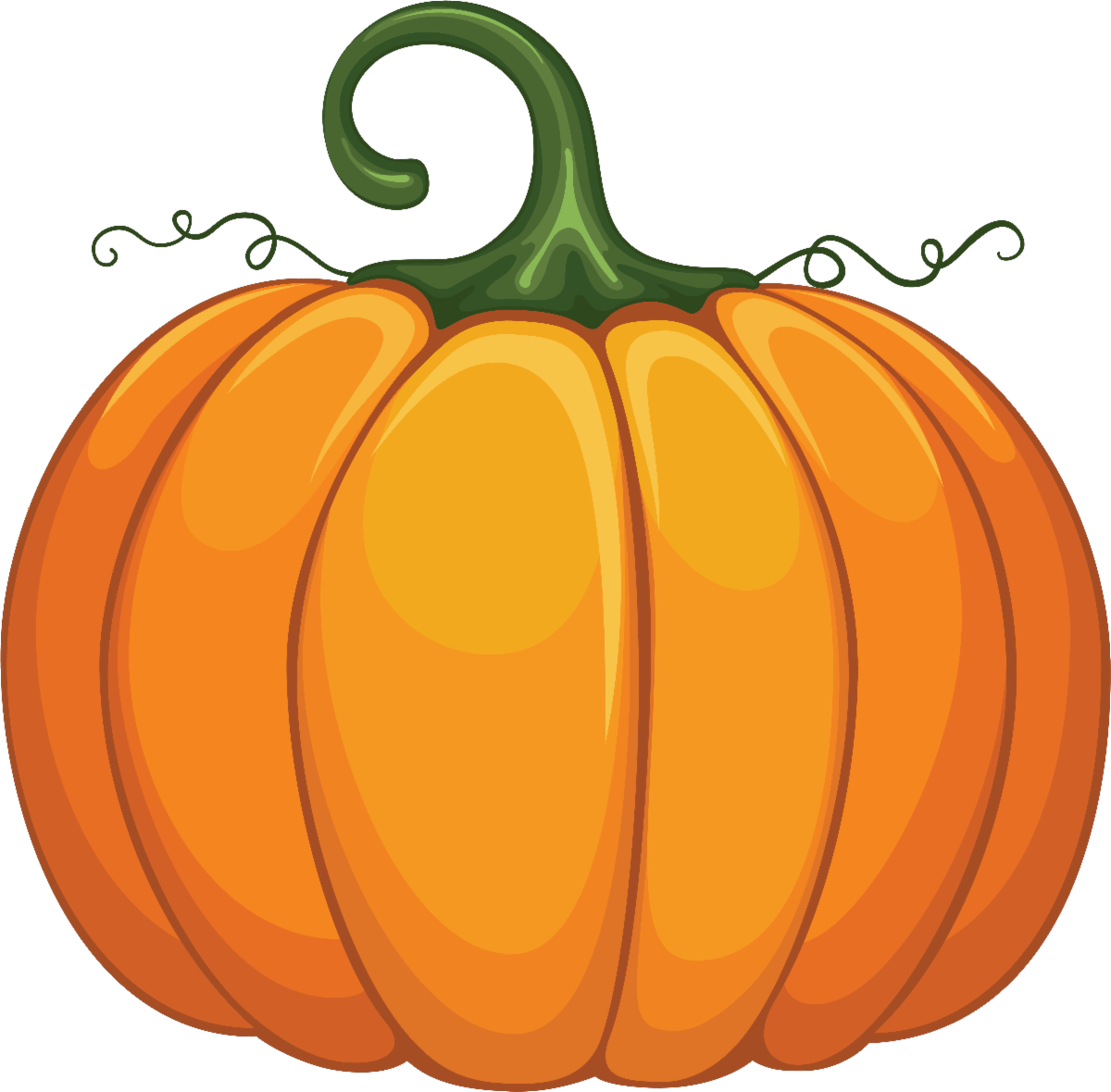 Illustrated graphic of an orange pumpkin