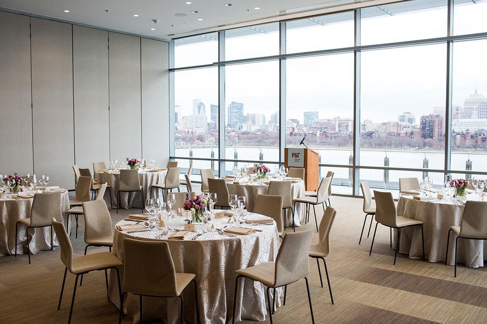 Dinner reception in MIT Samberg Center Salon T; photo by Jake Belcher