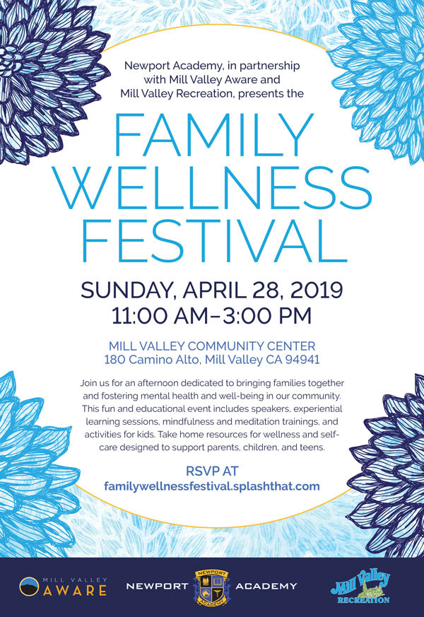 Family Wellness Festival, April 29, 2019, 11am-3pm at the Mill Valley Community Center