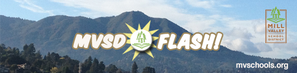 Mill Valley School District Flash! Newsletter banner with photo of Mount Tamalpais