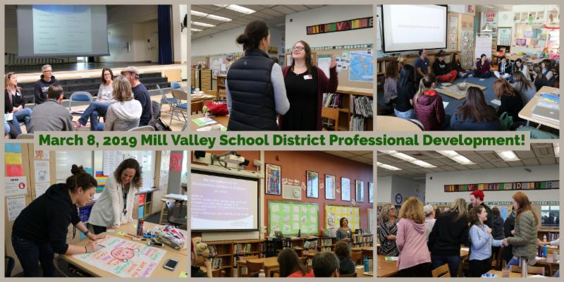 Staff members engaging in professional development