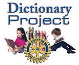 Picture of Rotary Logo and Dictionaries