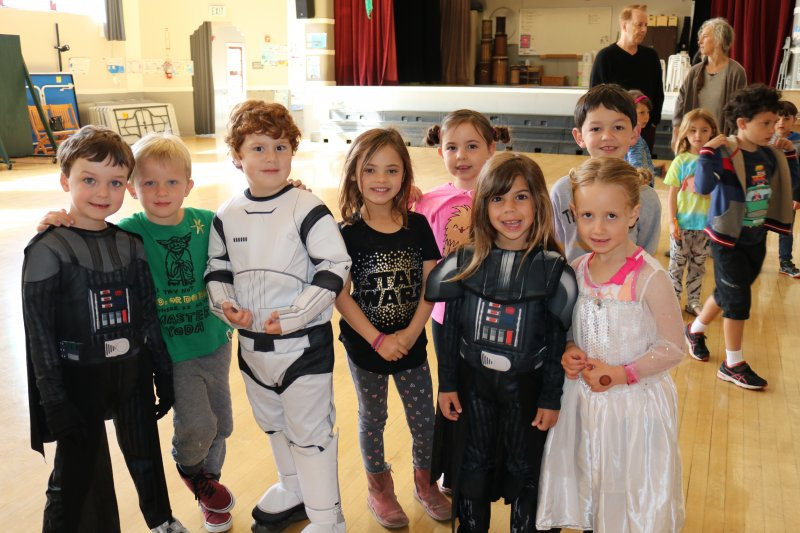 Park School students on Star Wars Day