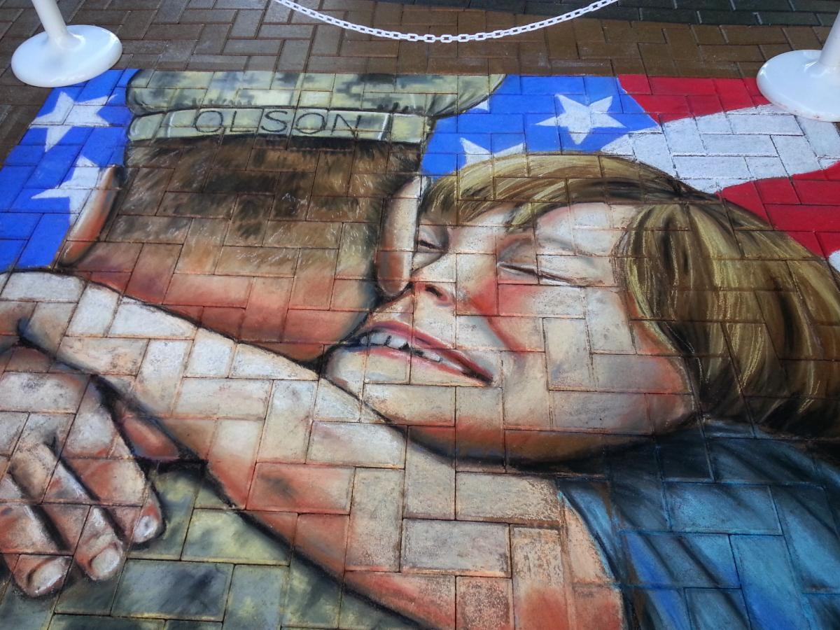 Veterans Chalk Art