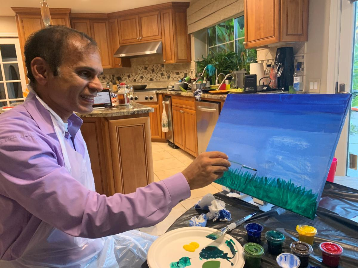 Paint and Sip with Dr. Misquitta