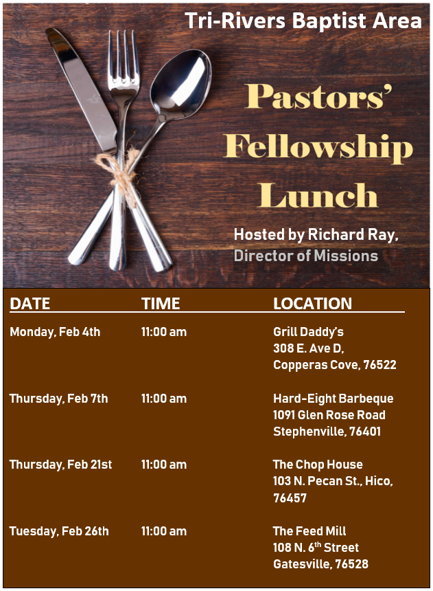 View Your Tri-Rivers Baptist Area E-Newsletter