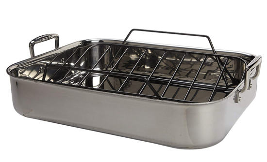 stainless roaster with rack